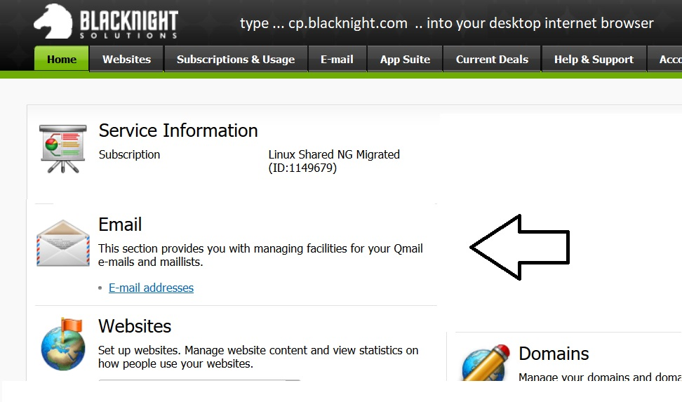 How to add email to your hosting with Blacknight solutions