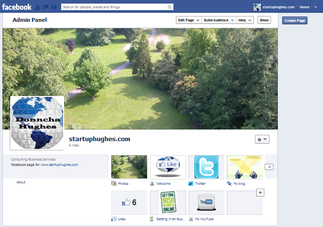 Facebook Page TABs Donncha Hughes Business Page