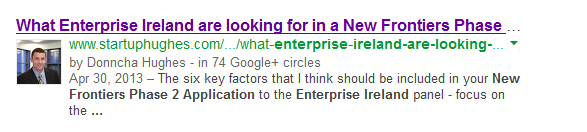 Google Authorship Donncha Hughes