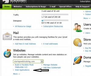 Install WordPress web application