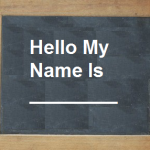 My name is - deciding on your brand name
