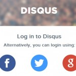 Disqus login screen
