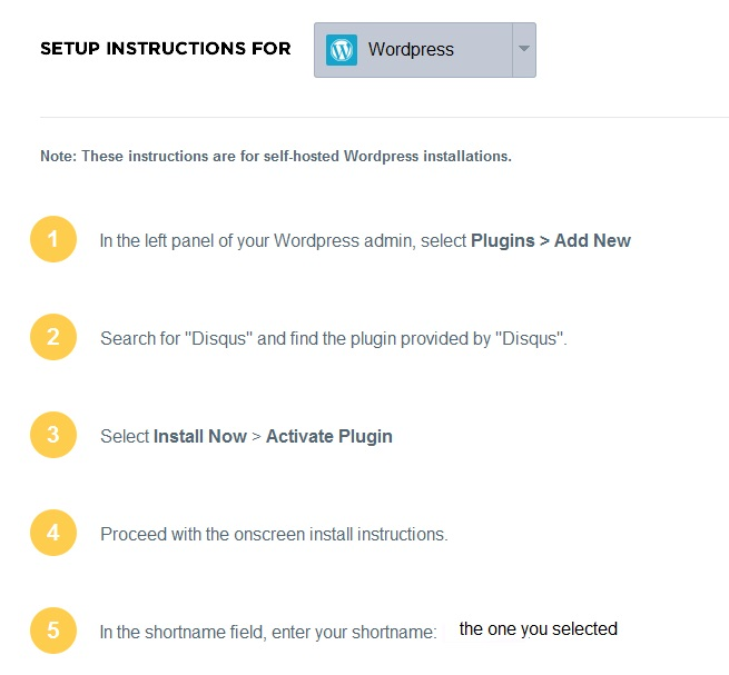 disqus setup instructions