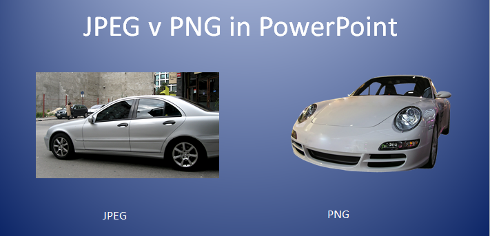 JPEG v PNG in powerpoint
