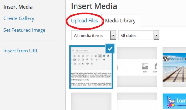 Add media in WP Upload