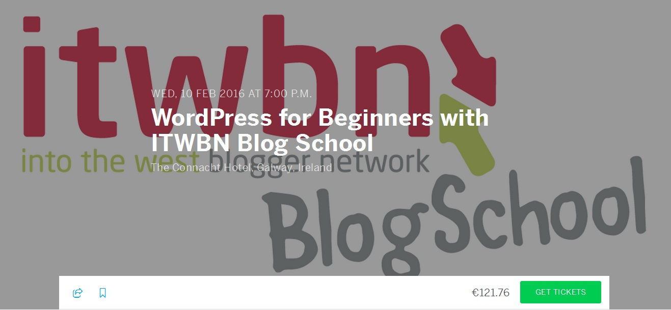 ITWBN Blogschool get tickets