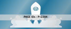 Page IDs for WordPress
