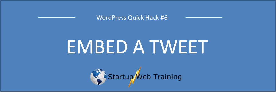 How to embed an individual tweet in a WordPress blog or post?