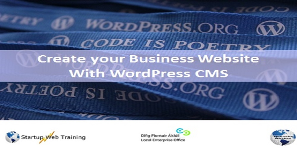 WordPress Training Galway March 2017 Banner