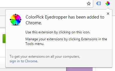 chrome colourpicker tool extension