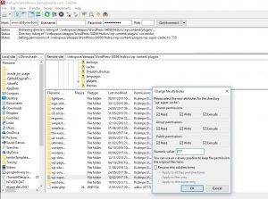 Filezilla in windows file permissions