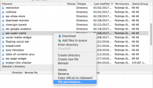 FileZilla File Permissions