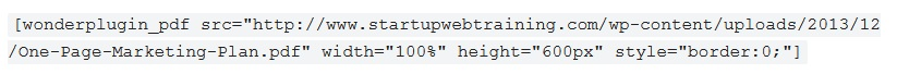 WonderPlugin PDF