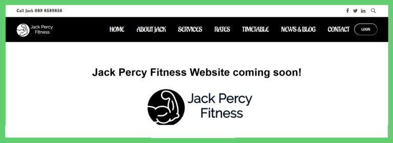Jack Percy Coming Soon page